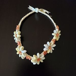 Flowered Hawaiian Shell Necklace